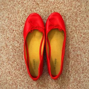 old navy red ballet flats
